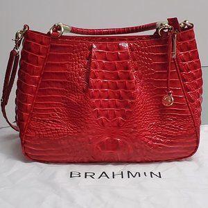 Brahmin Ruby Melbourne Embossed Leather Satchel